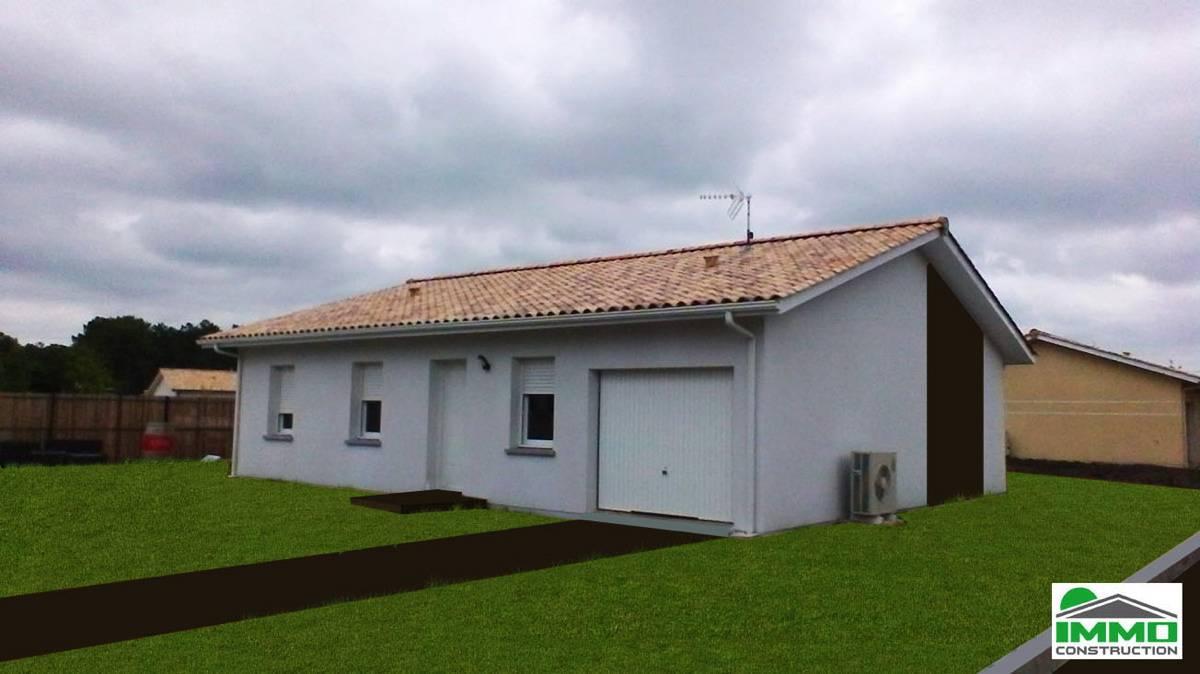 Maison avec garage en aquitaine constructeur de maison individuelle bordeaux immo construction for Construction maison neuve bordeaux