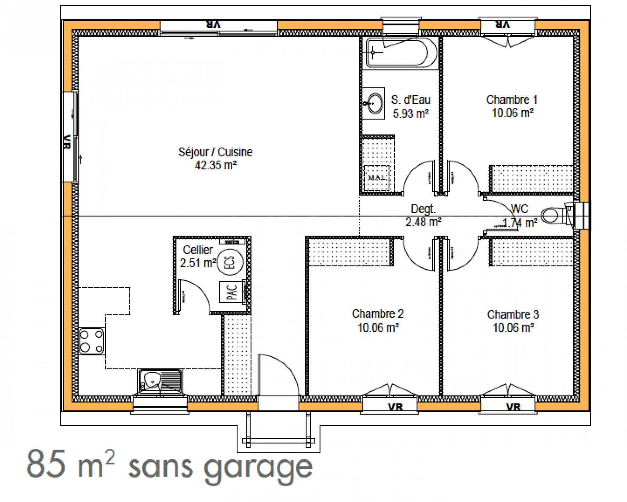 Roucou constructeur de maison individuelle bordeaux immo construction for Photo de plan de maison