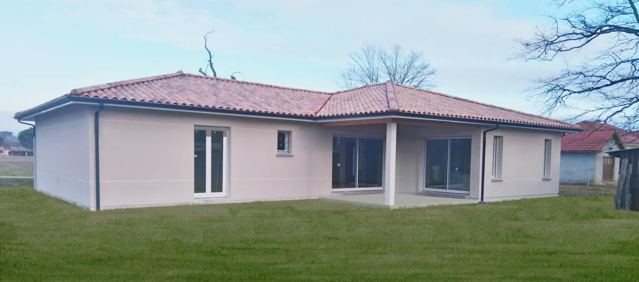 Construction pavillon moderne sur bordeaux en gironde constructeur de maison individuelle for Construction maison neuve bordeaux